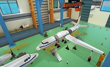 飞机大部件装配虚拟仿真实验